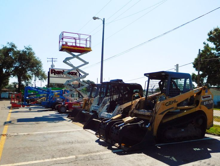 Rentalex - Tampa Bay construction equipment rental company. Contact us at (813)971-9990 for more information or to get a rental quote! We have a large fleet of well-maintained heavy equipment and construction tool rentals including aerial lifts, scaffolding, ladders, compaction equipment, tandem rollers, compressors, air tools, concrete tools, demolition hammers, earthmoving tools, excavating tools, floor finishing tools, forklifts, general building tools, and more from top brand lines.