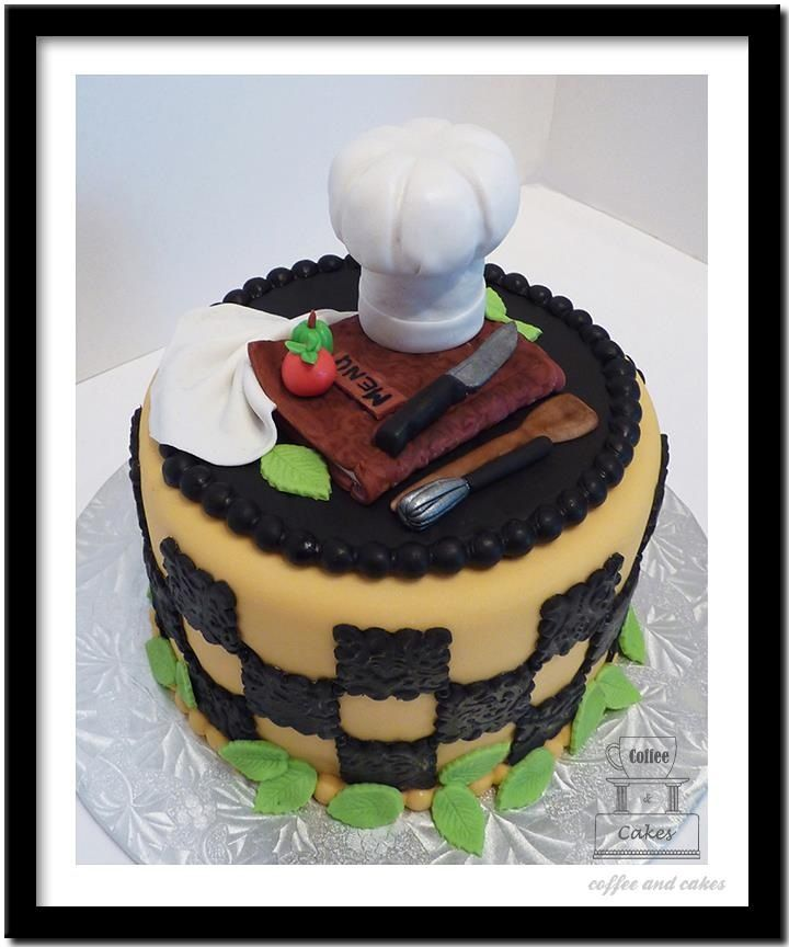 Cake Ideas For A Chef : Happy birthday chef Georg Cakes Pinterest Happy ...