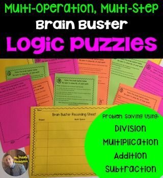 These brain busters will get your kids thinking! For one reason or another, my kids LOVE these types of questions, I think it's just because they feel like they are being sleuths trying to figure each of the questions out.There are two sets of the cards included.