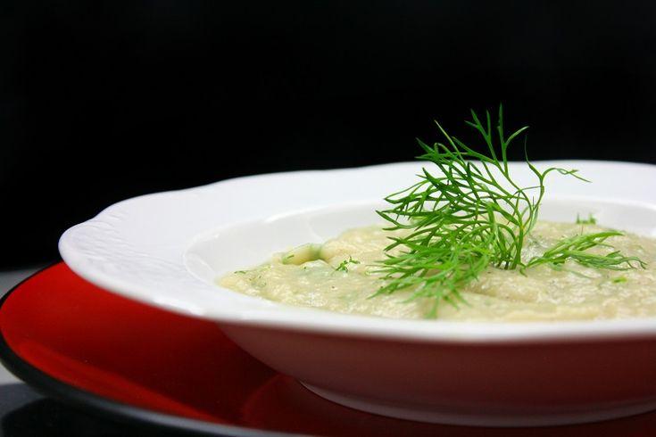velvety artichoke soup with celery root!