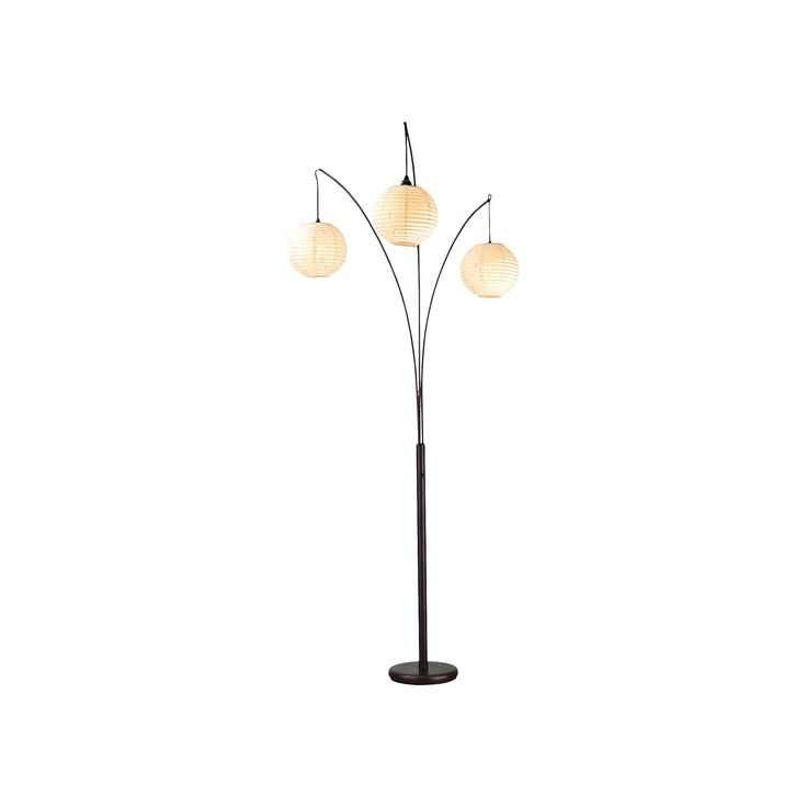 Adesso Spheres Arc Lamp - Rubbed Bronze, Black