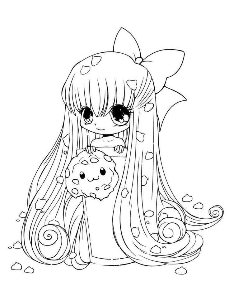 10+ Cute anime cat coloring pages ideas