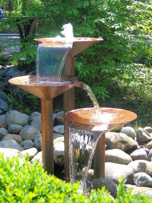 Copper Fountain Garden Water Fountains Fountains Backyard Diy Water Feature