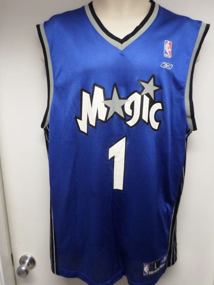 size 40 b8ff0 574c0 nba jerseys orlando magic 1 tracy mcgrady white star limited ...