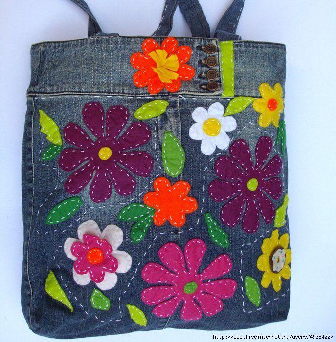 Переделки: Джинсовые сумки