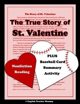 st valentine nonfiction passage and character activity - Who Was St Valentine And What Did He Do