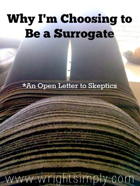 Simply Wright: Why I'm Choosing to Be a Surrogate *An Open Letter to Skeptics