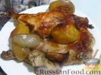 Фото к рецепту: Кролик, запеченный с овощами