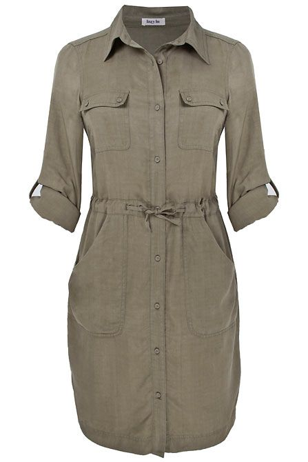Shirt dresses great especially if a little more rigid in fabric. eg linen, denim if they are belted.