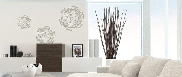Kružnice (1087) / Samolepky na zeď, stěnu a nábytek