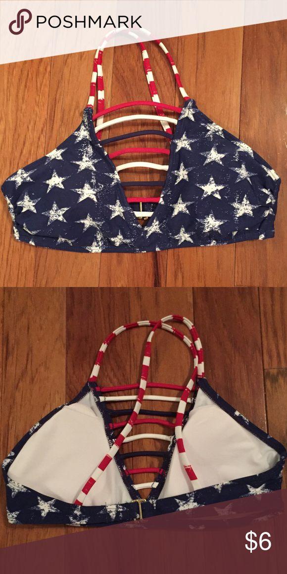Xhilaration Patriotic Bikini Top Xhilaration Patriotic Bikini Top. Size Small. Like NEW, only worn twice! Xhilaration Swim Bikinis
