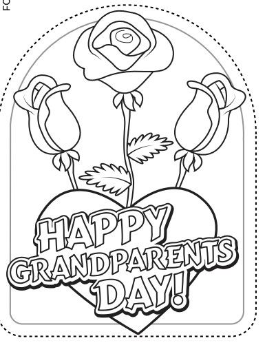 Grandparents Day Coloring Cards Printable