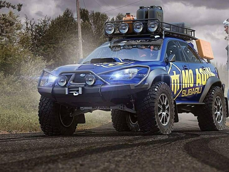 custom off-road Subaru rendering