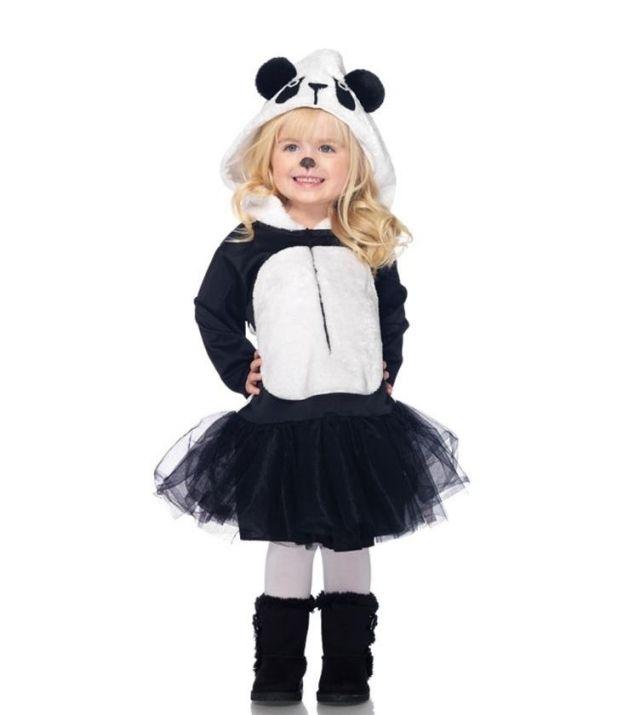 Mädchen Bekleidung-Panda Bär-Ideen-Röcke Ohren-Fasching
