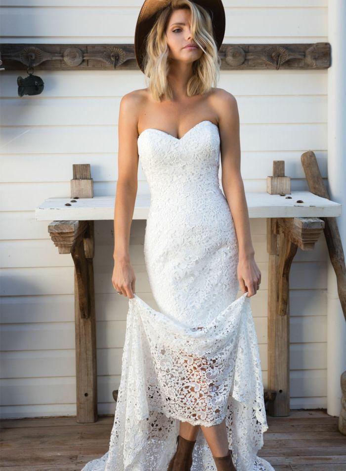 1001 Ideas De Vestidos Ibicencos Que Te Van A Encantar Bodas - Vestido-blanco-largo-ibicenco