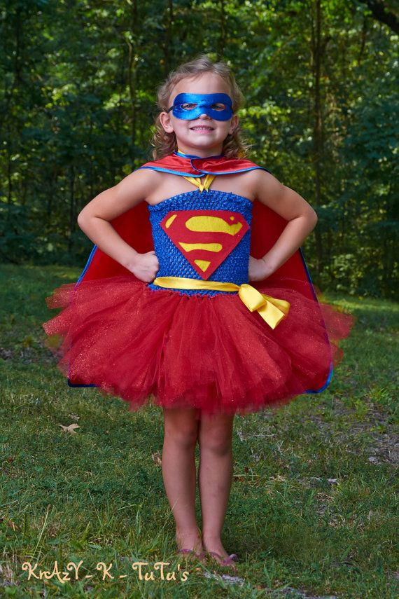 Supergirl Halloween Costume by Krazyktutus21 on Etsy, $45.00