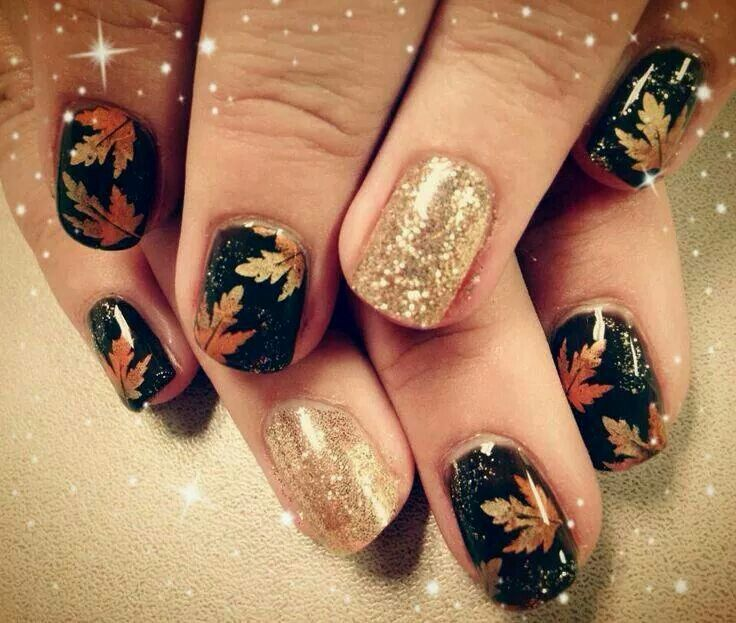31 best Autumn Leaf Nail Art images on Pinterest | Autumn nails ...