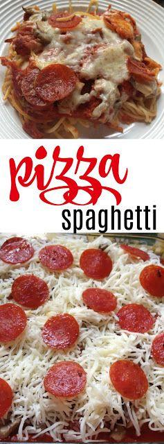 eMeals: Pizza Spaghetti Casserole recipe - quick weeknight meal! | The Food Hussy!