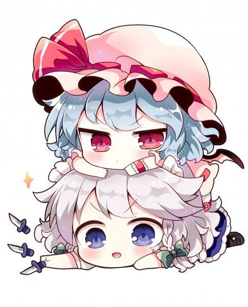 Touhou, Izayoi Sakuya, Remilia Scarlet, Pink Hat, Hat Bow
