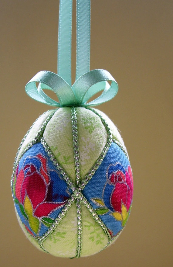 Easter Roses Easter Egg Ornament by Ornament Designs