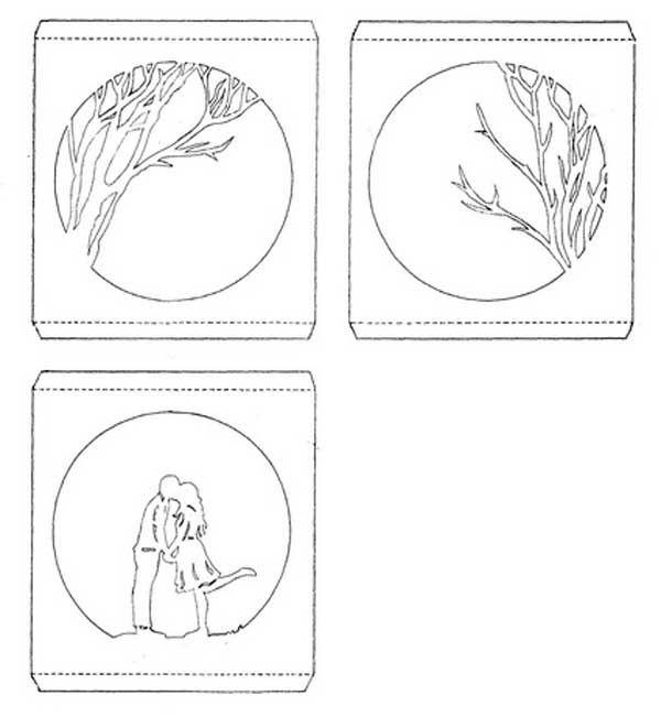 Бумажные тоннели открытки схемы