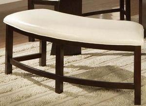 Friendship Circle 2-Seater Bench in White Bi-cast Vinyl Finish 5315-13