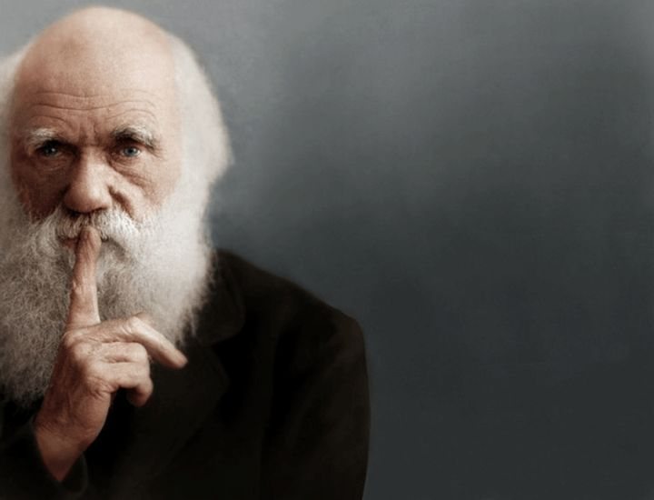 Colorized portrait, from the article, The Love Song of Charles Robert Darwin.