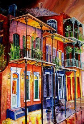 French Quarter Night Walk - Diane Millsap: Orleans Millsap, Quarter Night, Millsap Art, Art Arc Color, French Quarter, Pintura Art, Orleans Art, Totalmente Color, Night Walks