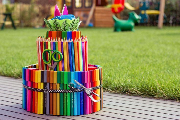 Eine Stifte-Torte zur Einschulung! =) (Diy Baby Geschenk)