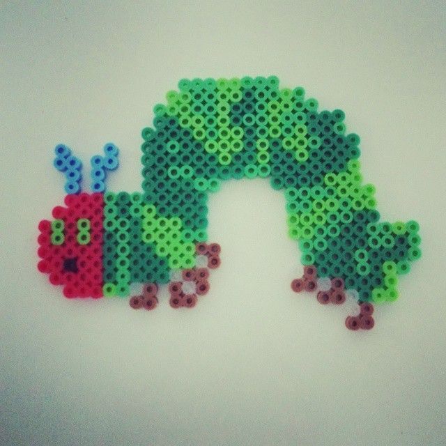 make a very hunger caterpillar out of beads - Google Search