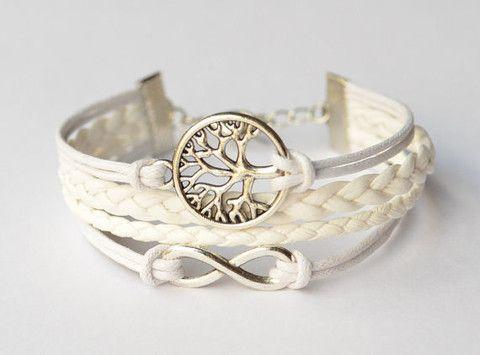 Faith Bracelet, Silver Wishing Tree & Infinity Charm Bracelet Multiple - Hollywood Sensation