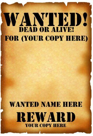 Download Download Wanted Poster Template for Word 2007 or later