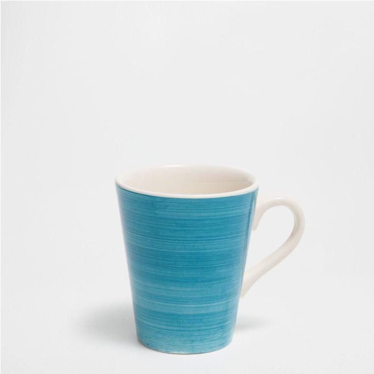 Blue swirly earthenware tableware - Jaipur - Mid Season Sale   Zara Home United Kingdom