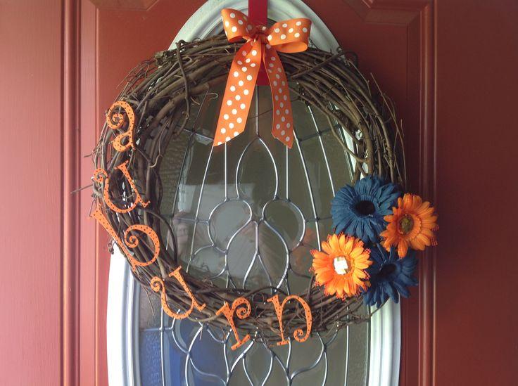 Auburn wreath!