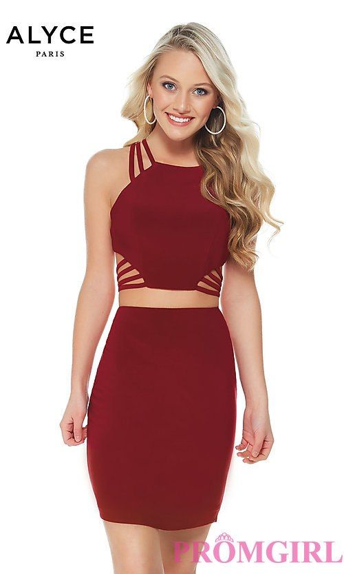 85cf996e18 Two-Piece Homecoming Dress with a Strappy Back