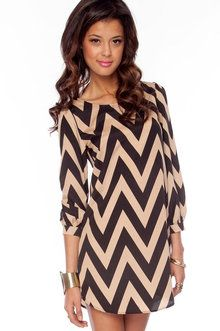 Tobi's The Vintage Shop Bold Zig Zag Dress in Black and Beige. just bought this and i am jealous of myself