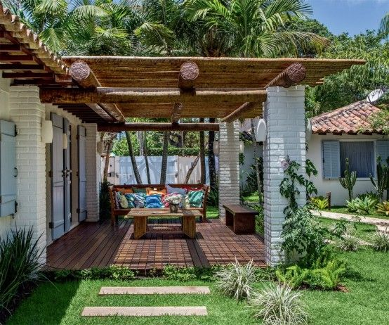 Simple Yet Cozy White Bungalow In Brazil | DigsDigs