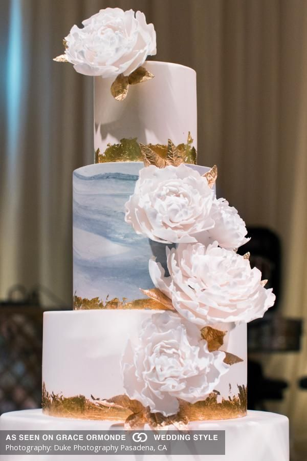 wedding cakes los angeles prices%0A Photos of A Glam  AllWhite Wedding At Taglyan Complex in Los Angeles   California