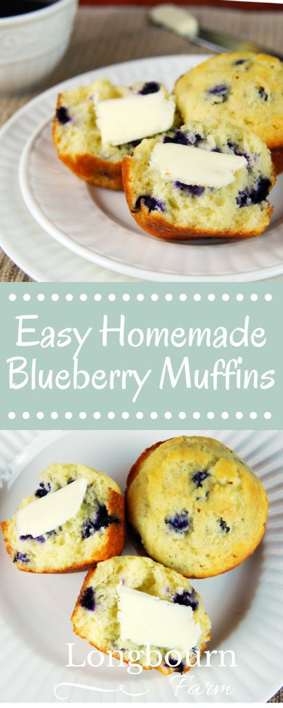 Making blueberry muffins doesn't have to be hard. Make these easy homemade blueberry muffins today! Frozen or fresh blueberries and simple ingredients.