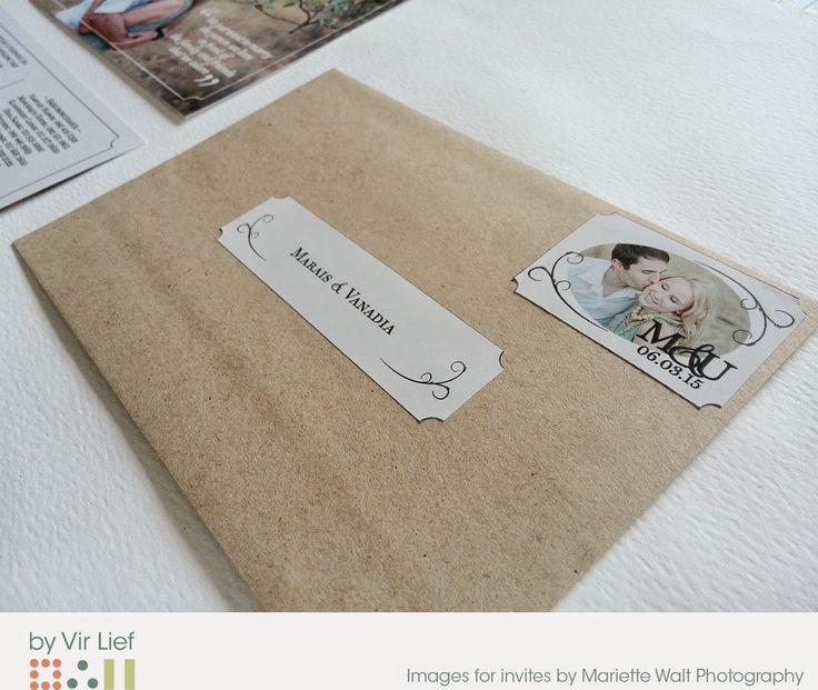 Postcard invitations by Vir Lief.