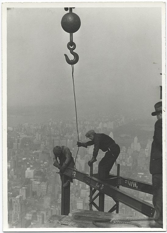 Budowa Empire State Building by Lewis Hine