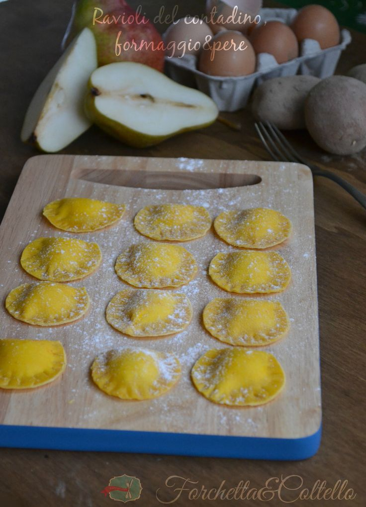 ravioli del contadino formaggio e pere è una pasta ripiena, gustosa!