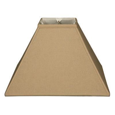 Royal Designs Square Sharp Corner Basic Lamp Shade Linen 6 X 18 13