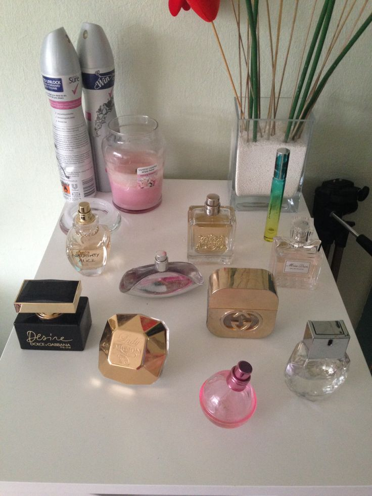 Some of my favourite perfumes on top of my Alex drawers
