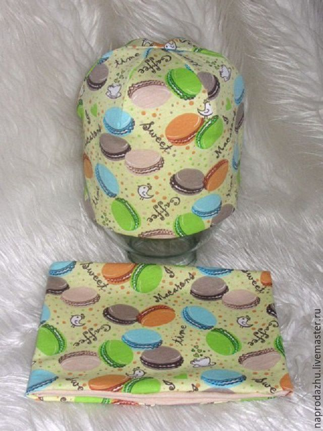 Купить шапочка снуд ,трикотаж - комбинированный, шапочка детская, шапочка снуд, трикотажный снуд, снуд
