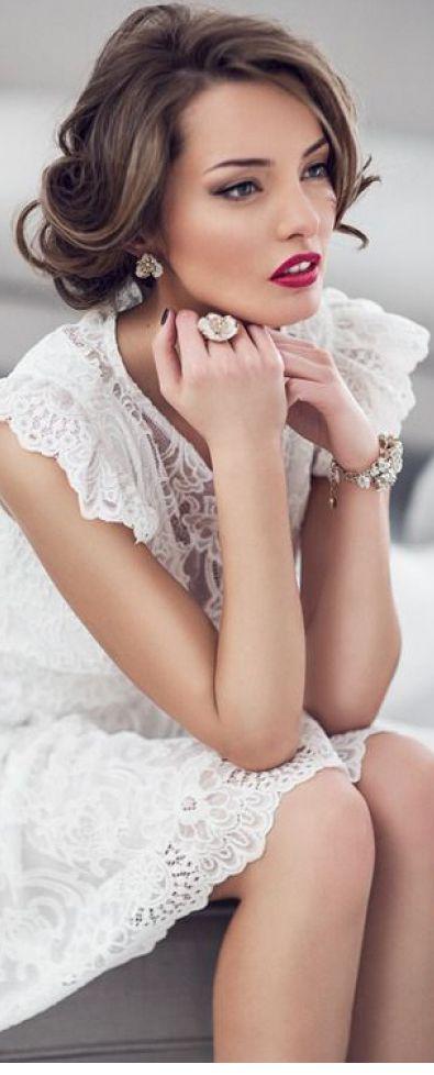 """! """"Jadranka Gospic"""" ! / white lace"""