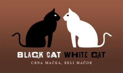 """Black Cat, White Cat"" (Serbian: Црна мачка, бели мачор; Crna mačka, beli mačor), a 1998 Yugoslav romantic comedy film directed by Emir Kusturica - movie poster"