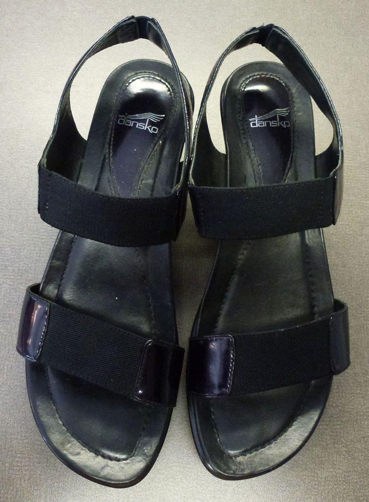 $30 DANSKOS! FOR SALE  Womans Dansko sandals black patent leather size 36 black Mary Janes US size 6.5 #Dansko #Sandal