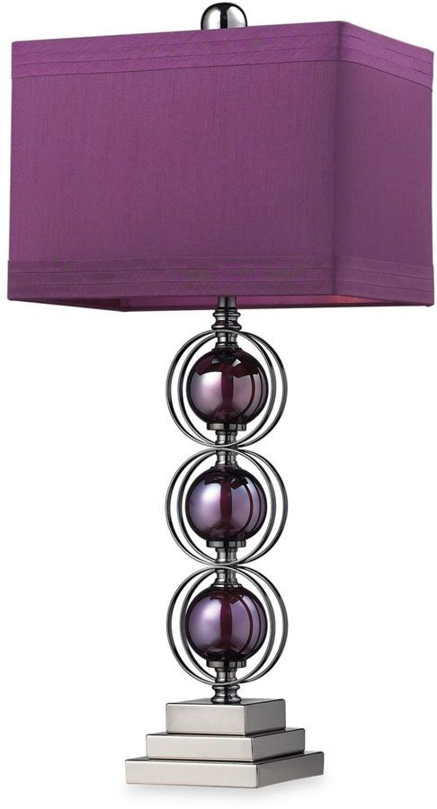 Check out the huge savings on new dimond alva table lamp purple black nickle at lampsusa