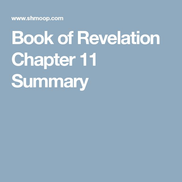Book of Revelation Chapter 11 Summary